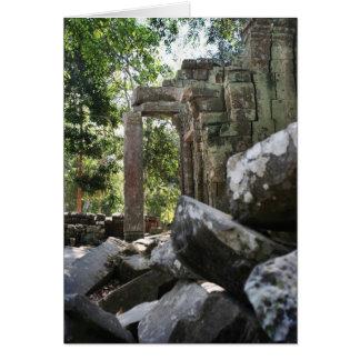 De Ruïnes van de tempel Briefkaarten 0