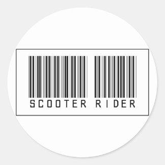 De Ruiter van de Autoped van de streepjescode Ronde Sticker