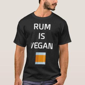 De rum is de Alcoholische drank van de Veganist T Shirt