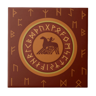 De Runen van Viking Keramisch Tegeltje