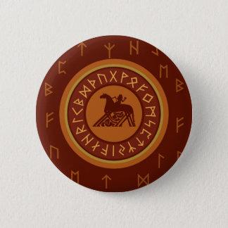 De Runen van Viking Ronde Button 5,7 Cm