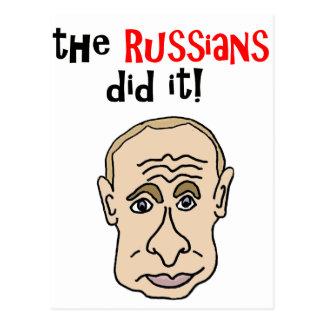 De Russen deden het Cartoon Putin Briefkaart