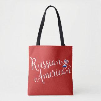De Russische Amerikaanse Ineengestrengelde Zak van Draagtas