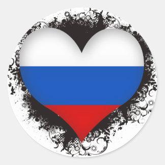 De Russische Federatie van de vintage Liefde van I Ronde Sticker