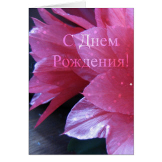 De Russische Kaart van de Verjaardag,