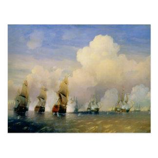 De russo-Zweedse Oorlog van het Zee dichtbij Briefkaart