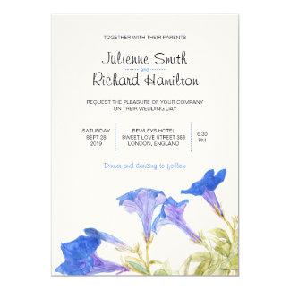 De rustieke Bloemen | Blauwe Uitnodigingen van het