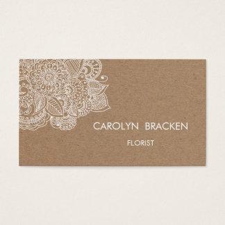 De rustieke Bruine Krabbel van Paisley van het Visitekaartjes