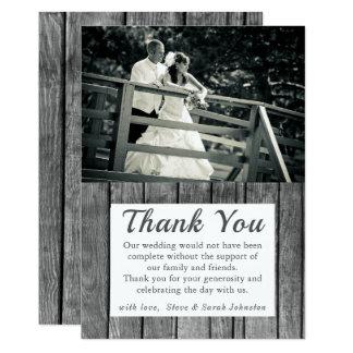 De rustieke Foto van het Huwelijk dankt u Kaarten