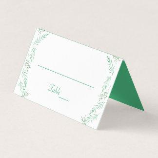 De rustieke Groene Waterverf van het Huwelijk van Plaatskaart