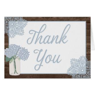 De rustieke Houten Kruik van de Metselaar dankt u Briefkaarten 0