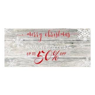 De rustieke Houten Sneeuwvlokken van Kerstmis - de Reclamekaart