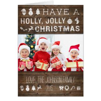 De Rustieke Hulst van het Wenskaart van Kerstmis