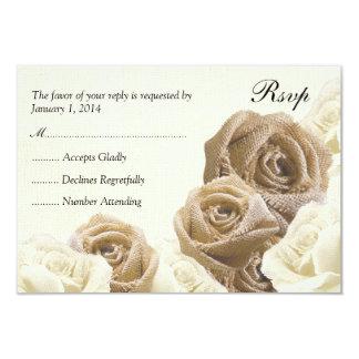 De rustieke Jute bloeit de Kaart van het Huwelijk 8,9x12,7 Uitnodiging Kaart
