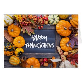 De rustieke Kaart van de Thanksgiving van de Oogst