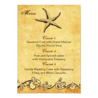 de rustieke kaarten van het het huwelijksmenu van custom uitnodging