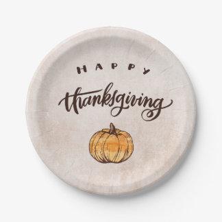 De rustieke Pompoen van de Thanksgiving van de Papieren Bordje