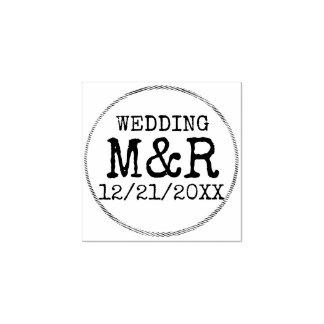 De Rustieke RubberZegel van het Huwelijk DIY - Rubberenstempel