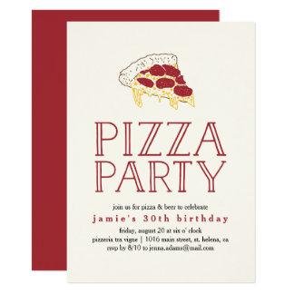 De rustieke Uitnodiging van de Partij van de Pizza