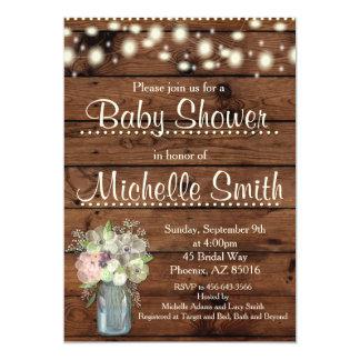 De rustieke Uitnodiging van het Baby shower, Kruik