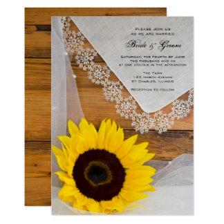 De rustieke Uitnodiging van het Huwelijk van het