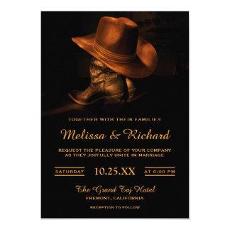 De rustieke Uitnodiging van het Pet van de Cowboy