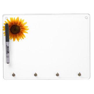 De rustieke Zonnebloem van de Herfst Whiteboard Met Sleutelhanger