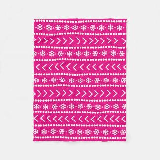 De ruwe deken van de Sneeuw - heet roze