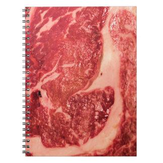 De ruwe Textuur van het Lapje vlees van Ribeye van Ringband Notitieboeken