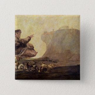 De Sabbat van de Heksen, c.1819-23 Vierkante Button 5,1 Cm