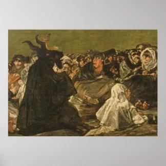 De Sabbat van de Heksen of de Grote hij-Geit Poster