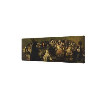 De Sabbat van de Heksen Stretched Canvas Print