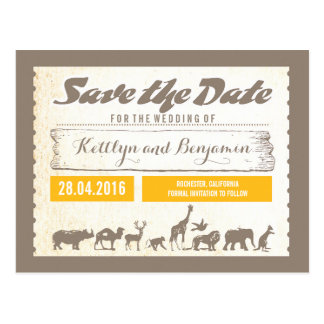 De safari of het Wild van de Dierentuin bewaart de Briefkaart