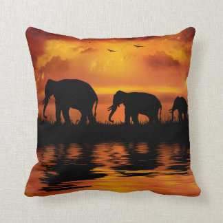 De Safari van de olifant werpt Hoofdkussen Sierkussen