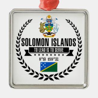 De Salomon Eilanden Zilverkleurig Vierkant Ornament