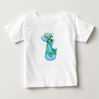 De samengeflanste Draak van het Water Baby T Shirts