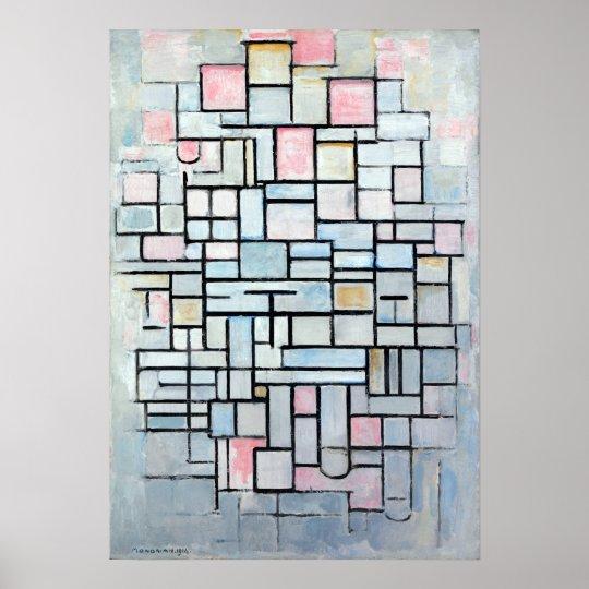 De Samenstelling Nr van Mondriaan van Piet. IV Poster