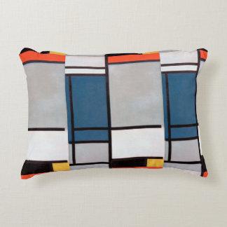 De Samenstelling van Mondrian met Rood, Blauw, Accent Kussen