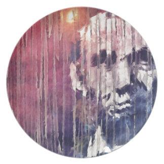 De Samenvatting van Abraham Lincoln van het Melamine+bord