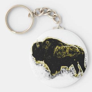 De Samenvatting van buffels Basic Ronde Button Sleutelhanger