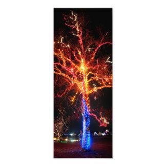 De Samenvatting van de Lichten van de kerstboom Foto Afdruk