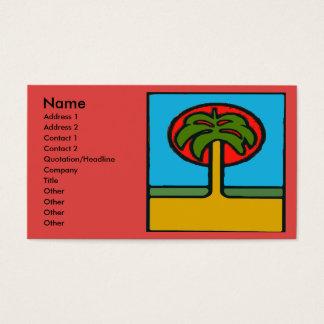 De Samenvatting van de palm Visitekaartjes