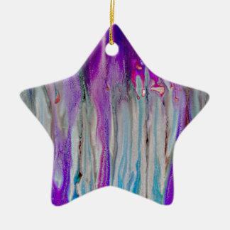 De Samenvatting van de waterval Keramisch Ster Ornament