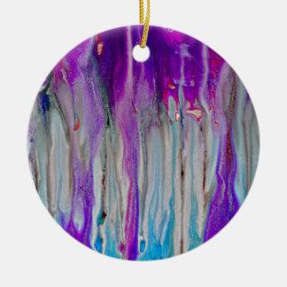 De Samenvatting van de waterval Rond Keramisch Ornament