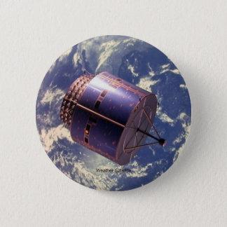 De Satelliet van het weer Ronde Button 5,7 Cm
