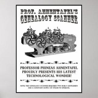 De Scanner van de genealogie Poster