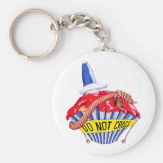 De Scène Cupcake Keychain van de misdaad Sleutelhangers