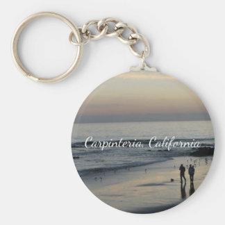 De Scène Keychain van het Strand van Californië Sleutelhanger