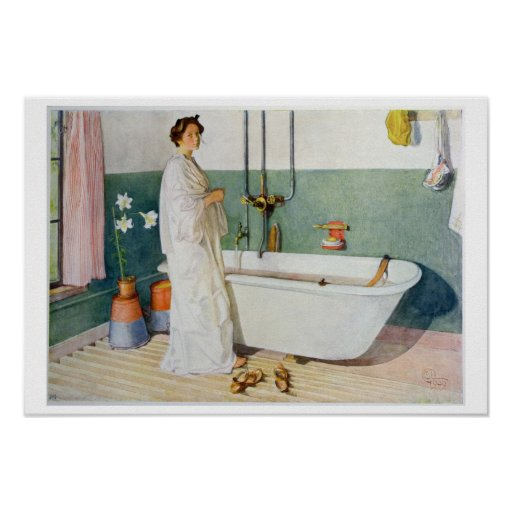 De Scène van de badkamers - Lisbeth, bar. in 'Lass Posters
