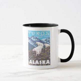 De Scène van de Geiten van de berg - Yukon, Alaska Mok